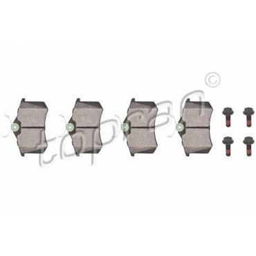 kit de plaquettes de frein arrière A4 A6 405 Clio Exeo Golf Jetta 1H0698451F