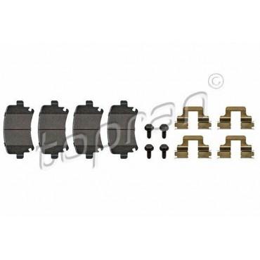 kit de plaquettes de frein arrière A3 TT Altea Octavia Yeti Caddy Eos 1K0698451K