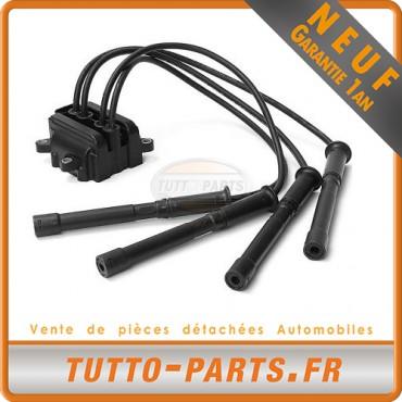 Bobine dAllumage + Faisceaux Peugeot 206 Renault Clio 2 Kangoo Twingo - 1.0 1.2'