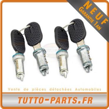 4 Barillets Serrure de porte + 2 clés pour CITROEN Jumper FIAT Ducato PEUGEOT Boxer