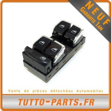 Bouton Vitre pour AUDI A4 Q5 - Côté Conducteur