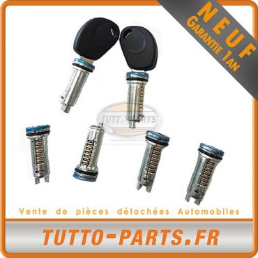 Kit Serrure Portes 6 Barillets + 2 Cles Iveco Dailly 3De 1999 a 2006 2991728